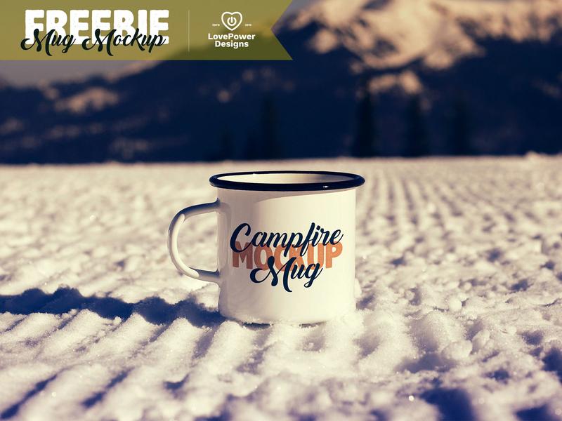 Free Mug Mockup / Mug Mock-up Freebie tin mug free white mug white mug free mug mockup free mockup freebie enamel mug mug adventure vintage