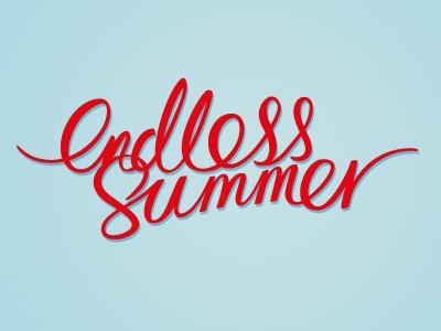 endless summer (colour) typography illustration summer