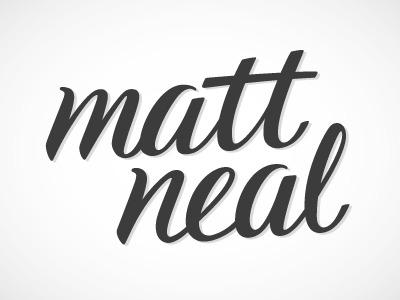 logo for matt. typography branding