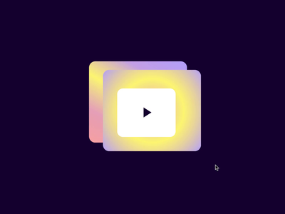 💛 Funky 💜 Play button motion design css animation shapes typography play button cta button animation
