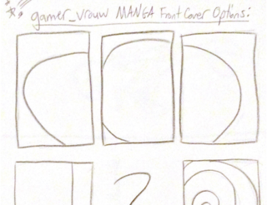 """gamer_vrouw"" MANGA Front Cover Options (drawings) design book cover illustration books book cover design manga branding graphic design"