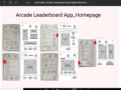 Arcade Leaderboard App (Digital Wireframe via Figma) online computer digital figma ux design design