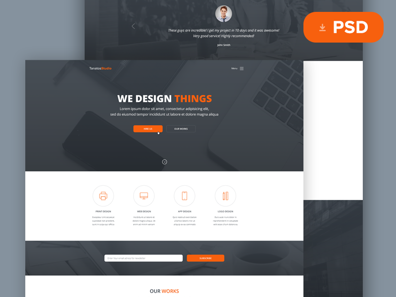 Tanatos psd template