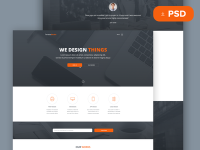 Tanatos Free PSD Template freebies free psd template website design web web design ux