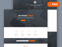 Tanatos Free PSD Template