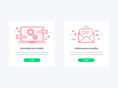 Icons for Kickpipe dashboard mailing automation computer mail ai vector illustration flat icons