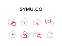 Icons for Symu.co website