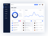 Merkury Free Dashboard PSD -  Home Page