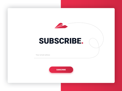 Daily UI Day #06 - Subscribe dailyui daily ui newsletter page subscribe free download ux web