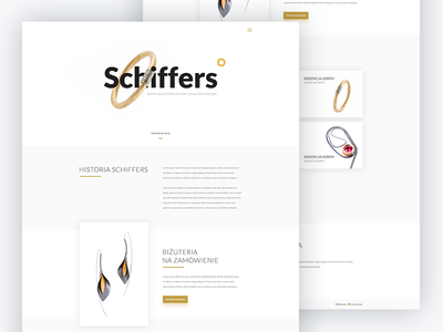 Schiffers.pl website minimal clean website ux ui design jewellery schiffers web