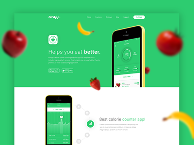 FitApp Free PSD Template