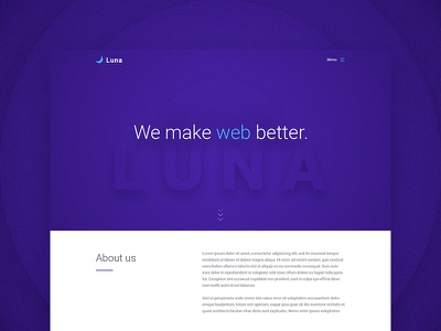 Luna Free PSD Template template free agency web psd freebie ui ux website