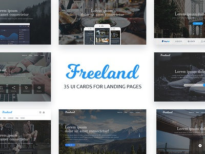 Freeland UI Cards for Landing Pages