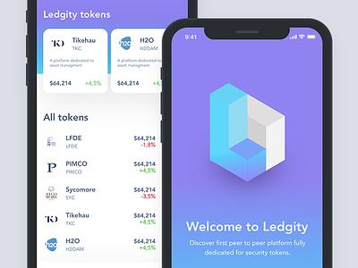 Ledgity Mobile App splash app gradient token mobile cryptocurrency blockchain ux ui