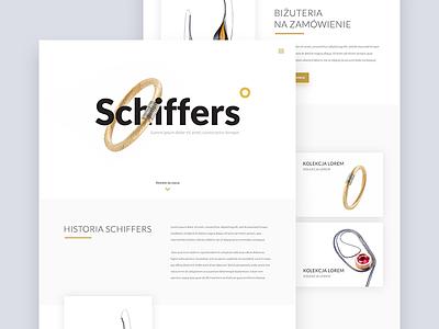Shiffers Jewellery Website clean simple ecommerce homepage jewellery landing page website ux ui