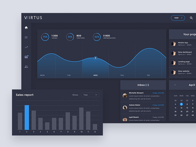 Virtus Dashboard Free PSD Template
