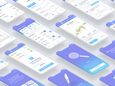 Ledgity Mobile App cryptocurrency mobile simple gradient chart isometric blockchain ux ui