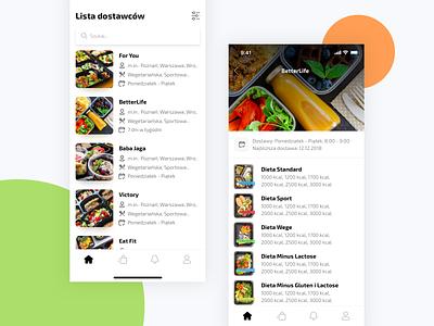 Dietary Catering App diet catering food design mobile app ui ux