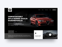 Alfa Romeo Website Concept