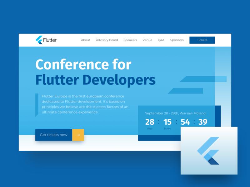 Flutter Conference Landing Page by Jakub Kowalczyk on Dribbble