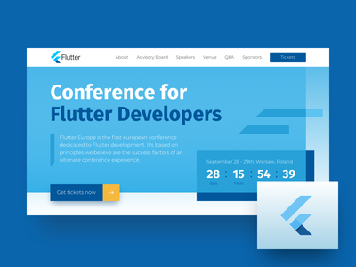 Flutter Conference Landing Page ux ui web website design flutter conference developers landing page