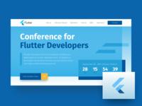 Flutter Conference Landing Page ux ui web website design flutter conference developers landing page