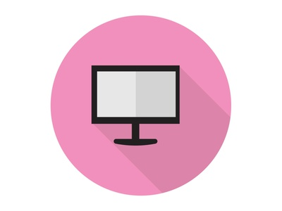 Computer display business modern office work internet technology computer laptop illustration icon graphic design flat design art
