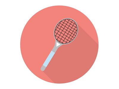Badminton Rackets equipment fun activity leisure play game racket sport badminton illustration icon graphic design flat design art