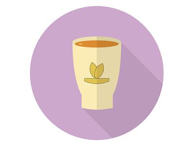 Tea Cups liquid healthy morning beverage breakfast hot drink tea cup illustration icon graphic design flat design art