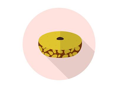 Mud Cake Traditional cake mud tasty snack delicious sweet fresh dessert illustration icon graphic design flat design art