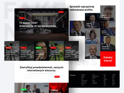 Fake News Landing Page