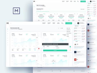 Asseco ePromak Next - web app 2 investment trading trading platform trading card investing creditcard finance financial app bank app movade ux ui ui design dashboard interface uxui ux design