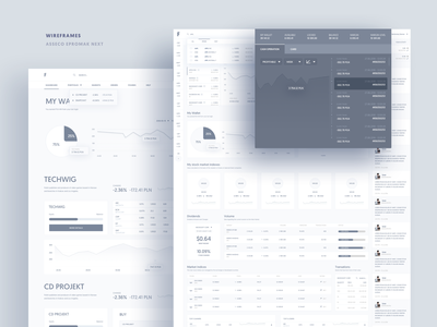 Asseco ePromak Next - wireframes 4 app design banking financial app ux ui trading platform investing bank app trading investment ux ui ui design dashboard interface uxui ux design