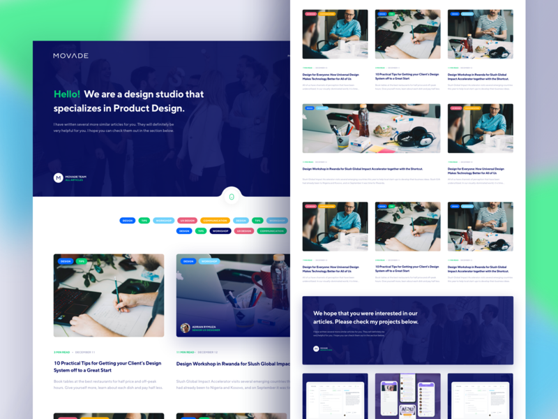 Product Design Agency - Blog landing page portfolio studio product design studio ux agency ux ui ui design interface uxui ux design