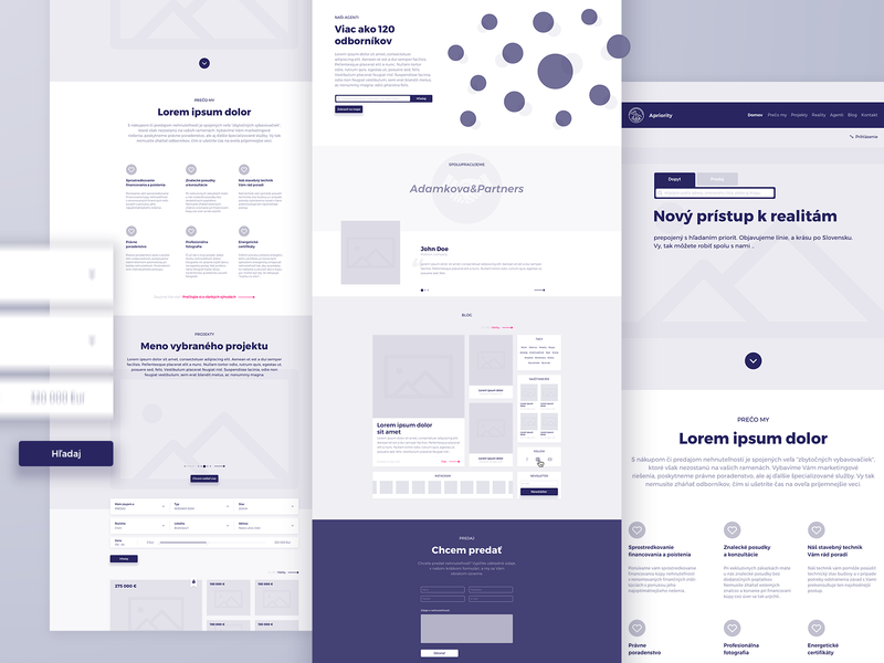 High fidelity wireframes wireframing website realityoffice product design wireframes webdesign web design ui ux