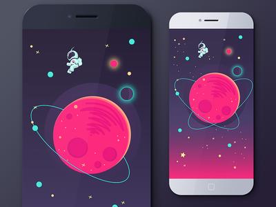 Game app illustration illustration game quiz background app space science nature color universe vector