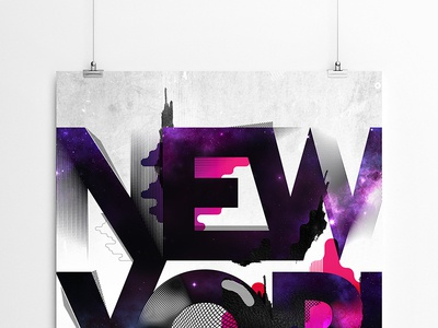 NewYork / typo poster / illustration illustrator space patterns colors print poster typo newyork