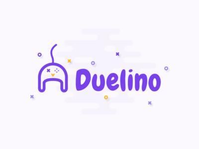 Duelino quiz illustration vector app duel digital logotype logo application game web
