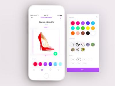 e-shopping app ui ux design lead clean white simple app mobile shopping eshop