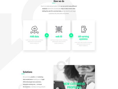 DH_Landingpage marketing web green dark motion ux ui data flat landing page gif animation