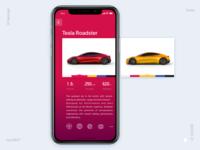 Tesla Roadster ui design