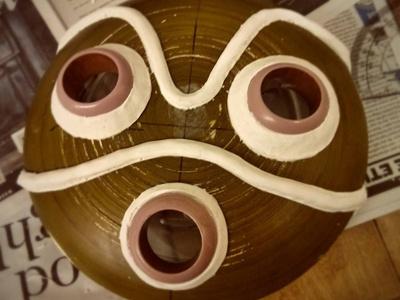 San Mask Progress princess mononoke princess san hayao miyazaki mask mask-masking woodworking costume design