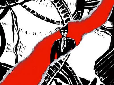 Tetsuo: The Bullet Man Poster japanese film japanese tetsuo the bullet man tetsuo film movie movie poster poster illustration design