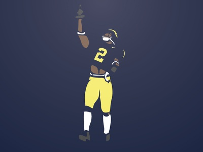 Charles Woodson football illustration michigan vector