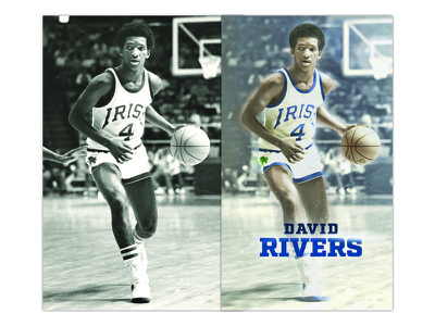 David Rivers dame notre colorize retouch basketball