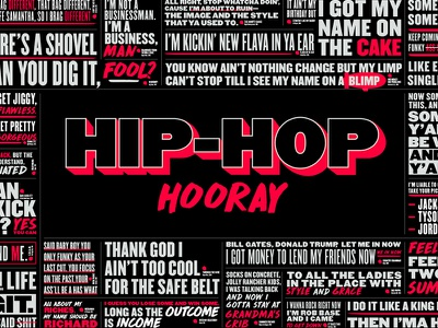 Home Office Wall neon typography office wall mural rap hop hip