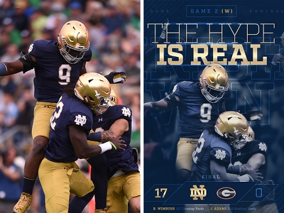 ND Football Personal Project retouch notre dame football