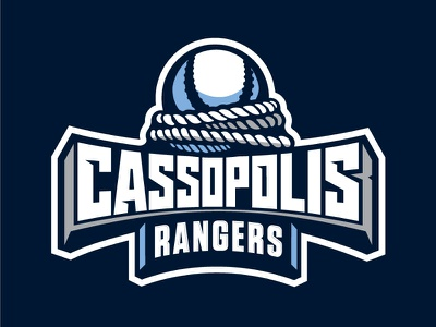 Cass Baseball baseball typography logo illustration rope ranger sport team
