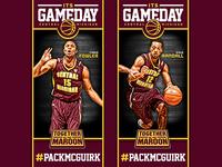 CMU Basketball Banners