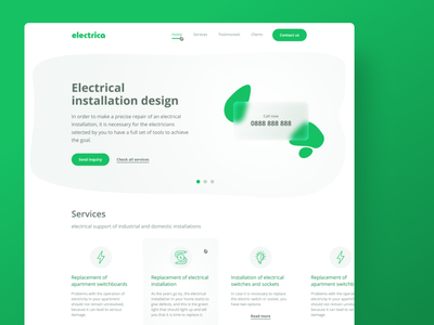Electrica website webdesign web uidesign ux ui  ux uiux ui